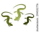 decorative lizard. graphic... | Shutterstock .eps vector #294531776