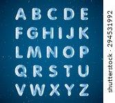 crystal alphabet. capital... | Shutterstock .eps vector #294531992