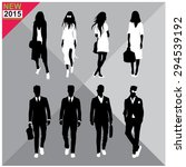 set of men and women black... | Shutterstock .eps vector #294539192