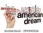 american dream word cloud... | Shutterstock . vector #294540326