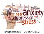 anxiety concept word cloud... | Shutterstock . vector #294540512