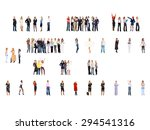team over white office culture  | Shutterstock . vector #294541316