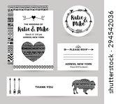 wedding invitation card in... | Shutterstock .eps vector #294542036