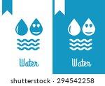 water  drop logo | Shutterstock .eps vector #294542258