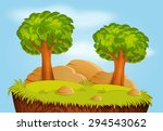 nature landscape with trees and ...