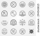 work tools badges or labels  ... | Shutterstock .eps vector #294543815