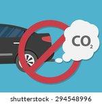 car emits carbon dioxide.... | Shutterstock .eps vector #294548996