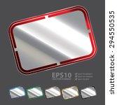 vector   silver blank rectangle ...