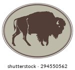 buffalo. hand drawn... | Shutterstock .eps vector #294550562
