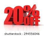 twenty percent off sale | Shutterstock . vector #294556046
