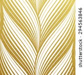 gold glittering abstract waves... | Shutterstock .eps vector #294563846