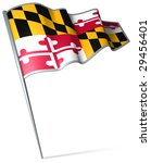 flag pin   maryland  usa  | Shutterstock . vector #29456401