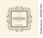 luxury logo template with... | Shutterstock .eps vector #294567302