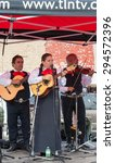 Small photo of TORONTO,ONTARIO-JULY 5,2015: Group Mexico Amigo Mariachi performs in Salsa on St. Clair Ave West is the largest Hispanic festival in Canada gathering thousands every year.