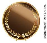 brown blank circle metallic...