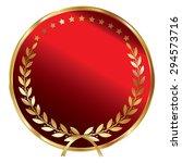 red blank circle metallic...