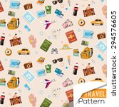 travel icons pattern   vector... | Shutterstock .eps vector #294576605
