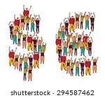 symbol money crowd happy people ... | Shutterstock . vector #294587462