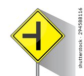 yellow traffic square shaped t  ... | Shutterstock . vector #294588116