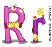 The Letter R In Upper And Lowe...