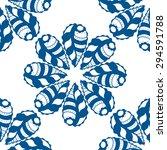 vector seamless blue pattern.... | Shutterstock .eps vector #294591788
