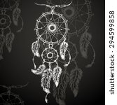 dream catcher  feathers and...   Shutterstock .eps vector #294599858