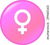 female gender symbol button | Shutterstock . vector #29460163