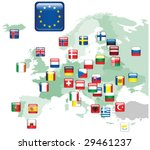 set of flags. glossy buttons.... | Shutterstock .eps vector #29461237
