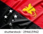 papua new guinea flag on soft... | Shutterstock . vector #294615962
