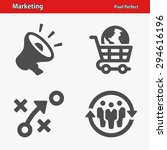 marketing icons. professional ... | Shutterstock .eps vector #294616196