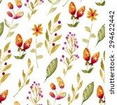 seamless pattern of flowers ... | Shutterstock .eps vector #294622442