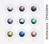 polygonal crystal | Shutterstock .eps vector #294626846