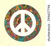 hippie style. ornamental... | Shutterstock .eps vector #294627746
