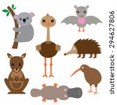 australian animals vector set | Shutterstock .eps vector #294627806