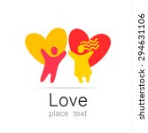 love couple   a sign of the... | Shutterstock .eps vector #294631106