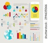 set of infographics elements in ... | Shutterstock .eps vector #294635066