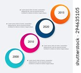 vector colorful info graphics... | Shutterstock .eps vector #294635105