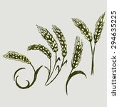 vector image. wheat and rye | Shutterstock .eps vector #294635225