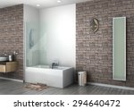 modern bathroom interior... | Shutterstock . vector #294640472