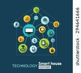 technology smart house. growth... | Shutterstock .eps vector #294641666