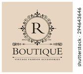 r letter logo  monogram design... | Shutterstock .eps vector #294643646