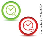 more time icons set. simple... | Shutterstock .eps vector #294653246
