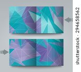 brochure template with abstract ... | Shutterstock . vector #294658562