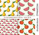four pattern designs with clean ... | Shutterstock .eps vector #294660266