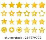 collection of vector stars | Shutterstock .eps vector #294679772
