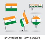 set of indian pin  icon and map ... | Shutterstock . vector #294680696