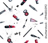 vector watercolor glamorous... | Shutterstock .eps vector #294681092