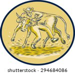 etching engraving handmade... | Shutterstock . vector #294684086