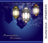 ramadan kareem vector... | Shutterstock .eps vector #294685445