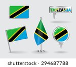 set of tanzanian pin  icon and... | Shutterstock . vector #294687788